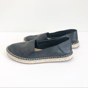 Aldo Black Leather Espadrilles